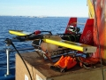 Joint URI GSO and WHOI research in Alaska using an Acrobat system.