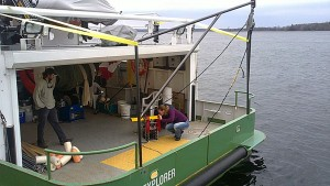 Canadian DFO-GL operating from a larger research boat with an Acrobat system.